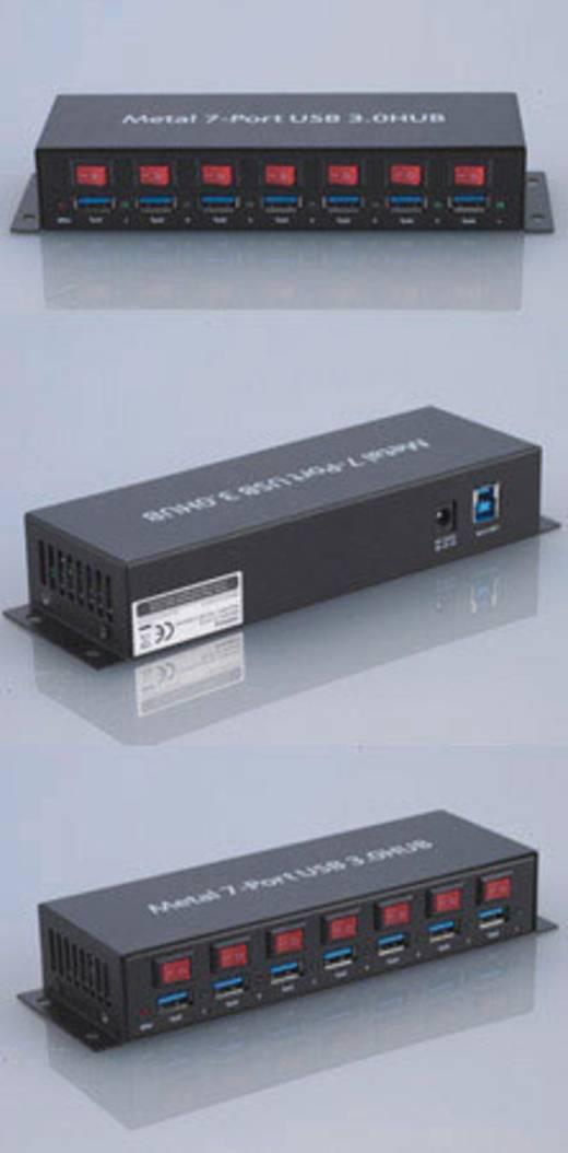 7 Port USB 3.0-Hub Metallgehäuse, einzeln schaltbar, zur ...