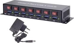 USB 3.0 hub Renkforce RF-3269622 1089874, 7 portů, 55 mm, černá