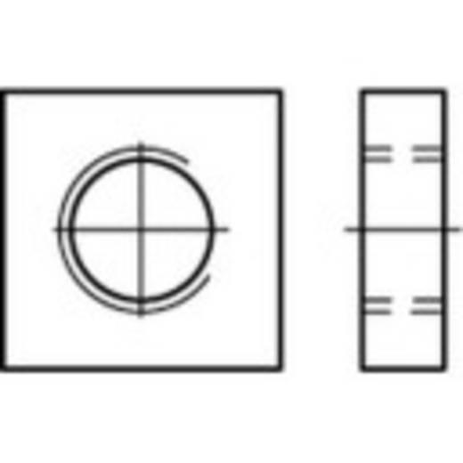 Vierkantmuttern M10 DIN 562 Stahl galvanisch verzinkt 100 St. TOOLCRAFT 109043