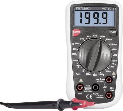 Hand-Multimeter digital VOLTCRAFT VC130-1 Kalibriert nach: ISO CAT III 250 V Anzeige (Counts): 2000