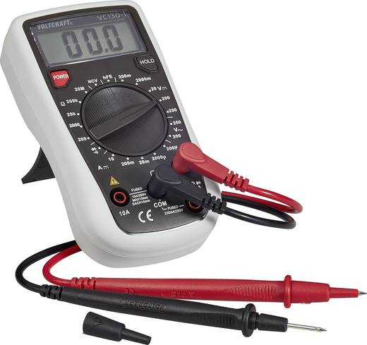 VOLTCRAFT VC130-1 Hand-Multimeter digital Kalibriert nach: ISO CAT III 250 V Anzeige (Counts): 2000