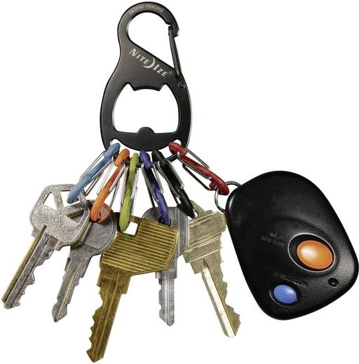 Schlüssel-Karabiner NITE Ize KeyRack 6 S-Biner Schwarz 1 St.