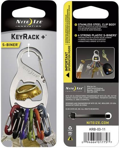 Schlüssel-Karabiner NITE Ize KeyRack 6 S-Biner Silber 1 St.