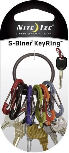 Schlüsselring mit Karabiner NITE Ize S-Biner Keyring Schwarz 1 St.