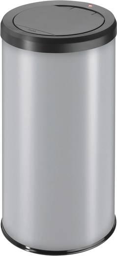 Mülleimer 45 l Hailo BigBin Touch 45 (Ø x H) 320 mm x 690 mm Silber One-Touch-Deckelöffnung 1 St.