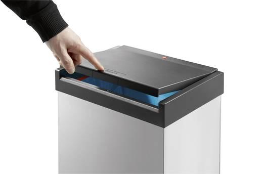 Mülleimer 60 l Hailo Big-Box Touch XL (B x H x T) 340 x 770 x 260 mm Silber One-Touch-Deckelöffnung 1 St.