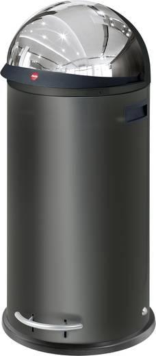Mülleimer 50 l Hailo Kick vizier 50 (Ø x H) 350 mm x 870 mm Schwarz Fuß-Tretmechanik 1 St.