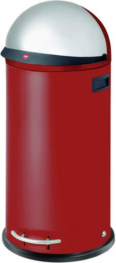 Mülleimer 50 l Hailo KickVisier XL (Ø x H) 350 mm x 870 mm Rot Fuß-Tretmechanik 1 St.