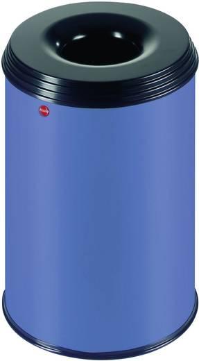 Papierkorb 30 l Hailo ProfiLine safe 30 (Ø x H) 330 mm x 470 mm Blau Flammlöschende Deckelkonstruktion 1 St.