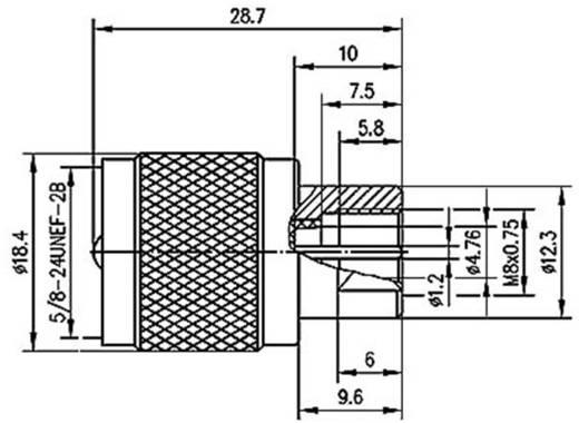 BNC-Adapter UHF-Stecker - FME-Stecker Telegärtner J01043A0000 1 St.