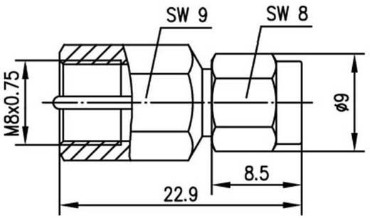 BNC-Adapter FME-Stecker - SMA-Stecker Telegärtner J01703A0009 1 St.