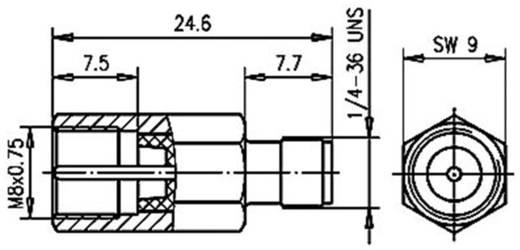 BNC-Adapter FME-Stecker - SMA-Buchse Telegärtner J01703A0000 1 St.