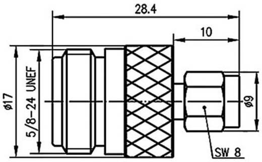 N-Adapter N-Buchse - SMA-Stecker Telegärtner J01027B0016 1 St.