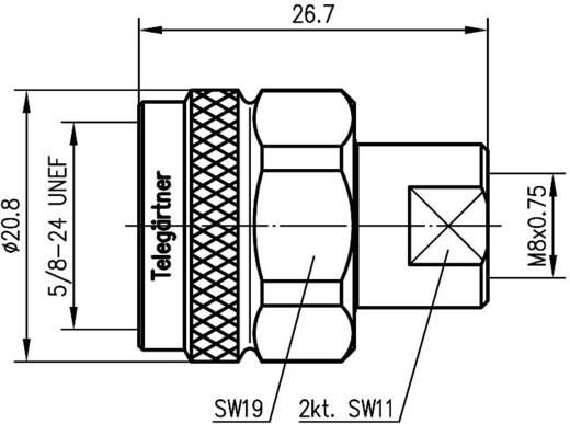 N-Adapter N-Stecker - FME-Stecker Telegärtner J01027A0013 1 St.