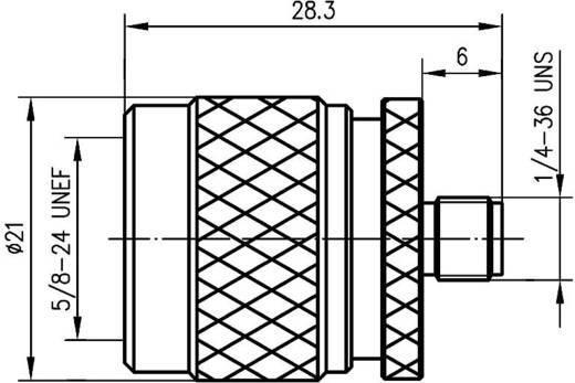 N-Adapter N-Stecker - SMA-Buchse Telegärtner J01027B0018 1 St.