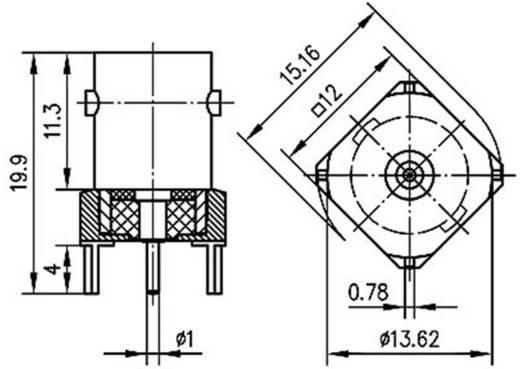 BNC-Steckverbinder Buchse, Einbau vertikal 50 Ω Telegärtner J01001A1944 1 St.