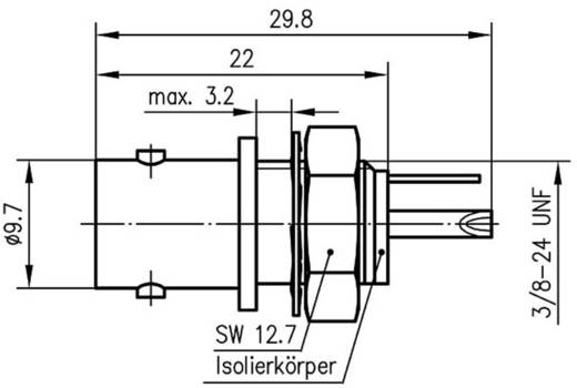 BNC-Steckverbinder Buchse, Einbau vertikal 50 Ω Telegärtner J01001D0043 1 St.