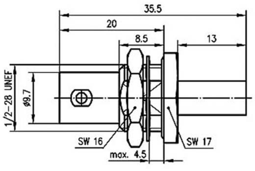 BNC-Steckverbinder Buchse, Einbau 50 Ω Telegärtner J01001A1379 1 St.
