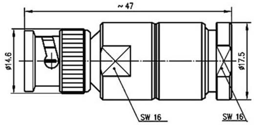 BNC-Steckverbinder Stecker, gerade 50 Ω Telegärtner J01000A1940 1 St.