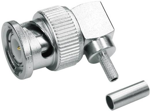 BNC-Steckverbinder Stecker, gewinkelt 75 Ω Telegärtner J01002A1356 1 St.