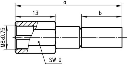 FME-Steckverbinder Stecker, gerade 50 Ω Telegärtner J01700A0009 1 St.