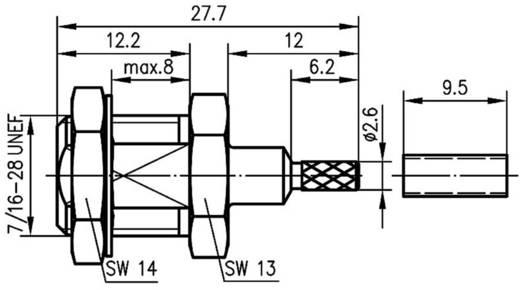 FME-Steckverbinder Stecker, Einbau vertikal 50 Ω Telegärtner J01700A0013 1 St.