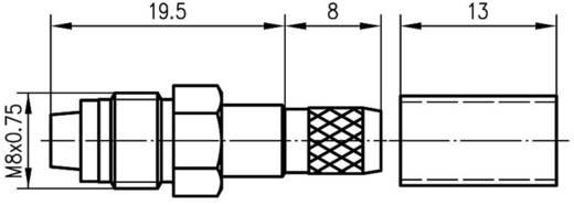 FME-Steckverbinder Buchse, gerade 50 Ω Telegärtner J01701A0007 1 St.