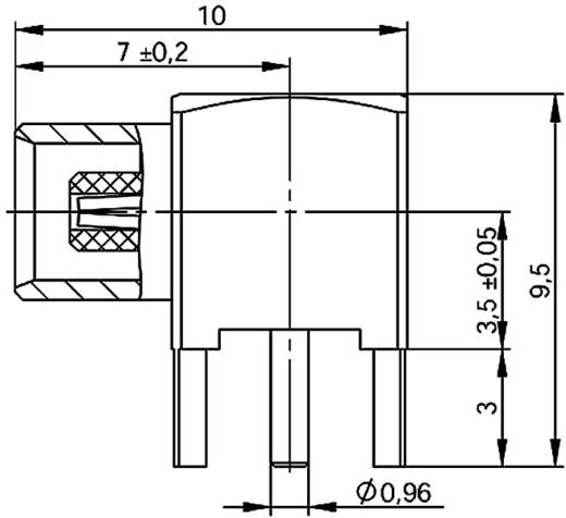 MCX-Steckverbinder Buchse, Einbau vertikal 50 Ω Telegärtner J01271A0161 1 St.