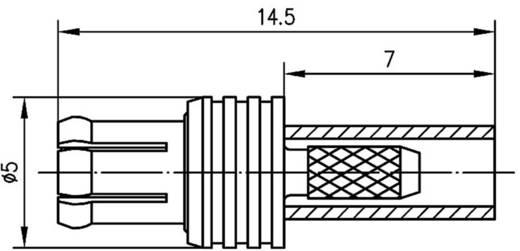MCX-Steckverbinder Stecker, gerade 50 Ω Telegärtner J01270A0151 1 St.