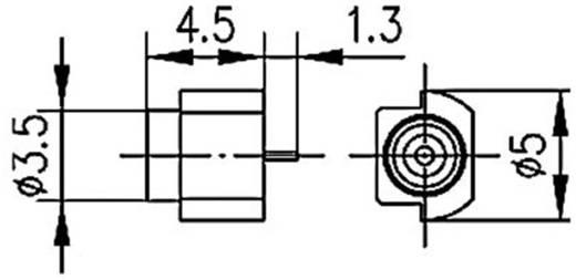 MMCX-Steckverbinder Buchse, Einbau vertikal 50 Ω Telegärtner J01341A0081Y 1 St.