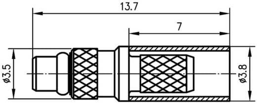 MMCX-Steckverbinder Stecker, gerade 50 Ω Telegärtner J01340A0141 1 St.