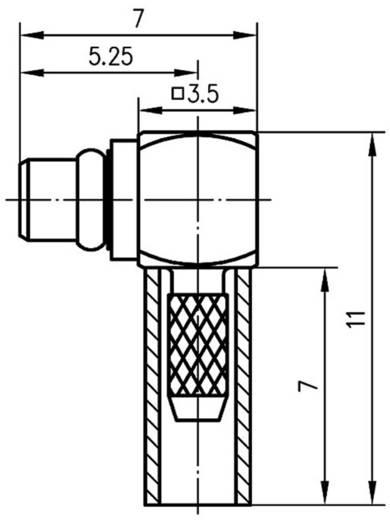 MMCX-Steckverbinder Stecker, gewinkelt 50 Ω Telegärtner J01340A0051 1 St.