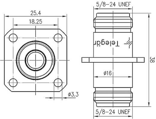 N-Adapter N-Buchse - N-Buchse Telegärtner J01024A0005 1 St.