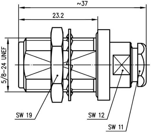N-Steckverbinder Buchse, gerade 50 Ω Telegärtner J01021H1171 1 St.