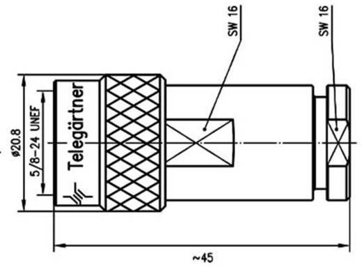 N-Steckverbinder Stecker, gerade 50 Ω Telegärtner J01020I1070 1 St.