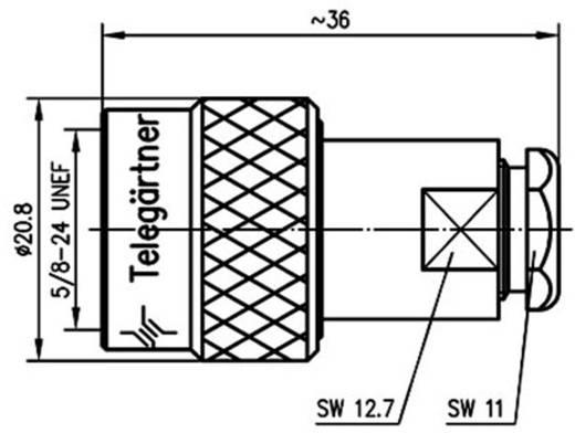 N-Steckverbinder Stecker, gerade 50 Ω Telegärtner J01020C1276 1 St.