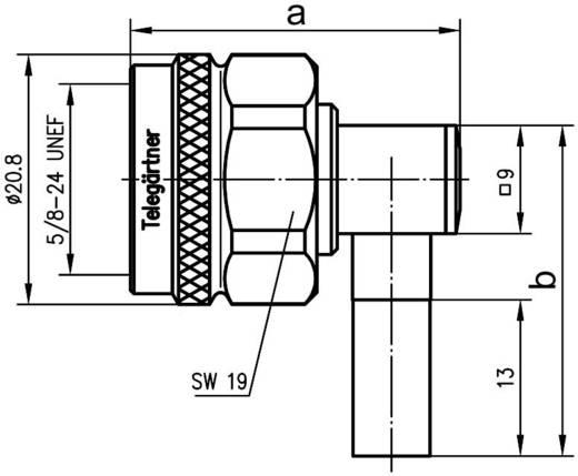 N-Steckverbinder Stecker, gewinkelt 50 Ω Telegärtner J01020A0035 1 St.