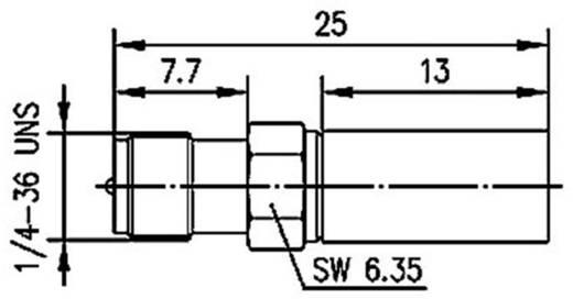 R-SMA-Steckverbinder Buchse, gerade 50 Ω Telegärtner J01151R0021 1 St.