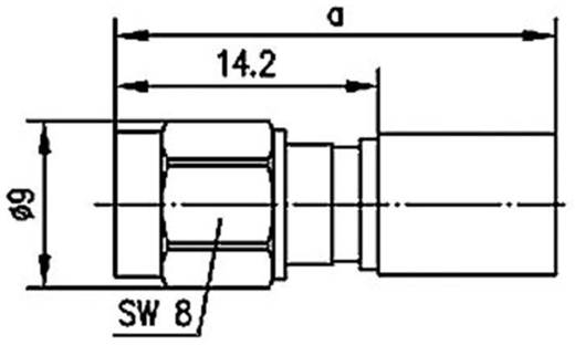 R-SMA-Steckverbinder Stecker, gerade 50 Ω Telegärtner J01150R0051 1 St.