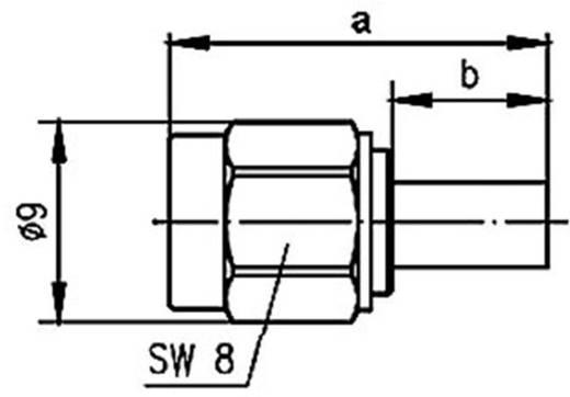 R-SMA-Steckverbinder Stecker, gerade 50 Ω Telegärtner J01150R0001 1 St.