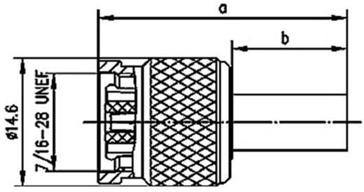 R-TNC-Steckverbinder Stecker, gerade 50 Ω Telegärtner J01010R0000 1 St.