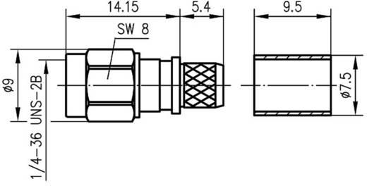 SMA-Steckverbinder Stecker, gerade 50 Ω Telegärtner J01150A0611 1 St.