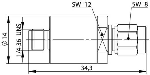 Dämpfungsglied Telegärtner J01156A0041 1 St.
