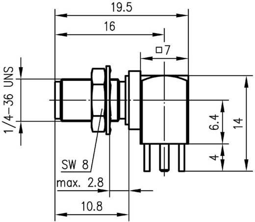 SMA-Steckverbinder Buchse, Einbau horizontal 50 Ω Telegärtner J01151A0201 1 St.