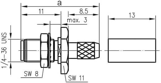 SMA-Steckverbinder Buchse, gerade 50 Ω Telegärtner J01151A0541 1 St.