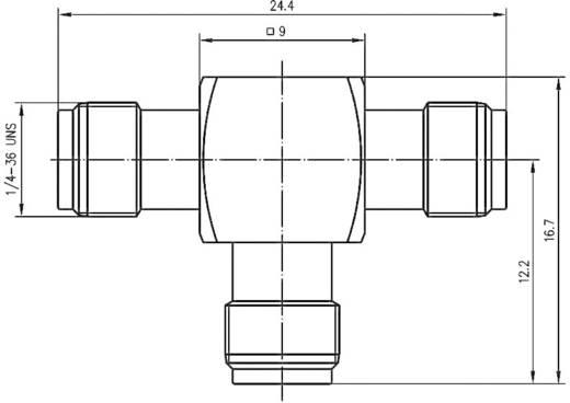 SMBA-Adapter SMA-Buchse - SMA-Buchse, SMA-Buchse Telegärtner J01155A0011 1 St.