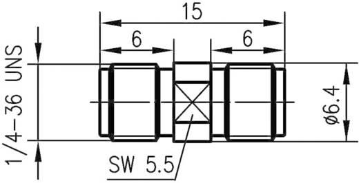 SMBA-Adapter SMA-Buchse - SMA-Buchse Telegärtner J01154A0001 1 St.