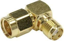 SMA adaptér úhlový Telegärtner J01154A0021, 50 Ω, zásuvka ⇔ zástrčka