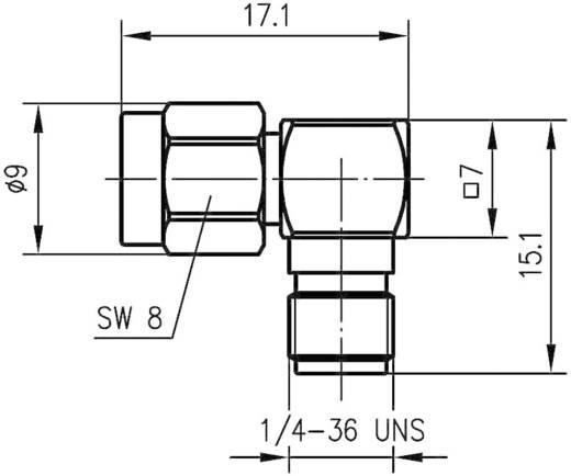 SMBA-Adapter SMA-Stecker - SMA-Buchse Telegärtner J01154A0021 1 St.