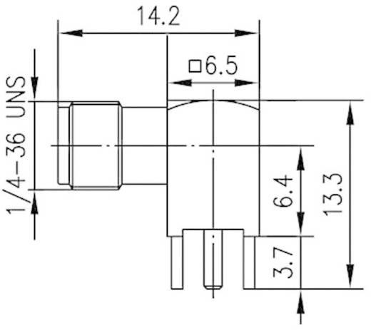 SMA-Steckverbinder Buchse, Einbau horizontal 50 Ω Telegärtner J01151A0191 1 St.